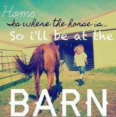 I'll be at the barn