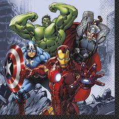 16 napkins Avengers