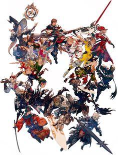 Character jobs from Final Fantasy XIV: Stormblood