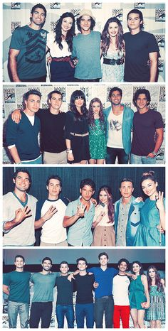 Teen Wolf Cast at comic-con 2010-2011-2012-2013