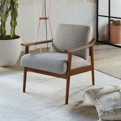 Mid-Century Show Wood Upholstered Chair - Commune Cross Dash