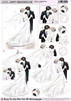 Craft Creations A4 die cut decoupage - Wedding Day