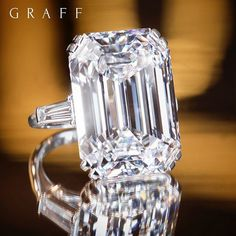 Exceptional Emerald Cut: Graff's 33.40ct D colour emerald cut diamond ring is a magnificent example of diamond craftsmanship, with exquisite fire and exceptional scintillation. #GraffDiamonds #Baselworld2017 #Baselworld #EmeraldCut #DiamondRing #EmeraldCutDiamond #FineJewellery