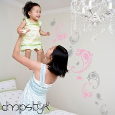Paisley Wall Decal Combo Pack by Chopstyk on Etsy, $36.00