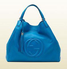 Gucci - soho riviera blue color leather shoulder bag
