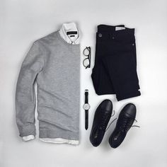 pulls for men inspiration grid style outfits mens outfits men's fashion Mode Outfits, Casual Outfits, Fashion Outfits, Fashion Clothes, Dance Fashion, Dress With Sneakers, Sneakers Fashion, Women's Sneakers, Yellow Sneakers