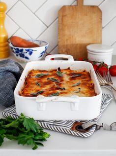 No-noodle Sweet Potato Sage Lasagna made with @KitchenAidUSA's Vegetable Sheet Cutter #MoreThanAMixer