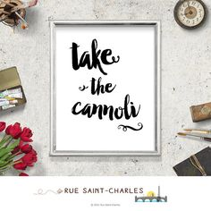 take the cannoli printable quote Godfather by RueSaintCharles