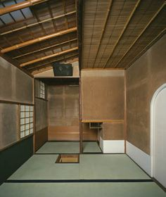 Ai, ai o Japão (suspiro) The perfection of a small, old Japanese room with earthen plaster walls, a highly refined craft in Japan. Houses Architecture, Interior Architecture, Interior And Exterior, Futuristic Architecture, Contemporary Architecture, Japanese Tea House, Traditional Japanese House, Japanese Interior Design, Japanese Design