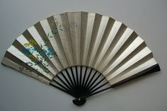 Small hand fan bamboo and paper vintage Japanese by StyledinJapan, $7.50