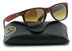 RayBan RB2132 New Wayfarer Gradient Unisex Sunglasses Bordo FrameBrown Gradient Lens 624085 55 * To view further for this item, visit the image link.