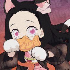 Anime Chibi, Kawaii Anime, Anime Art, Demon Slayer, Slayer Anime, Halloween Icons, Matching Profile Pictures, Fanart, Cute Icons