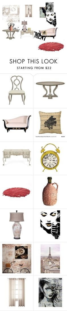 """""""french apartment"""" by akasuperchic ❤ liked on Polyvore featuring interior, interiors, interior design, home, home decor, interior decorating, Hooker Furniture, Nodus, WALL and Royal Velvet"""