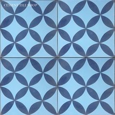 Cement Tile Shop - Handmade Cement Tile | Circulos Blue