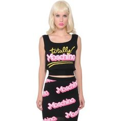 MOSCHINO CAPSULE Corpped Cotton Knit Tank Top