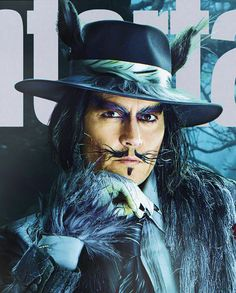 Johnny Depp Gets Big & Big Bad Wolf for Entertainment Weekly cover Johnny Depp Characters, Johnny Depp Movies, Movie Characters, Marlon Brando, Movie Costumes, Halloween Costumes, Colleen Atwood, Waterfall Jacket, Here's Johnny
