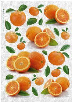 Papier ryżowy Kalit do decoupage gas0019 Pomarańcze Papier ryżowy Kalit - sklep DecoupageArt.pl Decoupage, Orange, Fruit, Health, Food, Health Care, Essen, Meals, Yemek