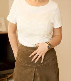 White shirt | Dana loves fashion and music