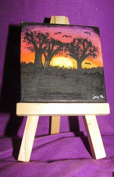 Mini Canvas - Savannah Sunset by FerretJAcK on DeviantArt Art Cards, Mini Canvas, Mini Paintings, Savannah Chat, Deviantart, Sunset, Sunsets, The Sunset
