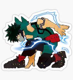 'My Hero Academia Deku Full Cowl Ready Set Go' Sticker by Tumblr Stickers, Anime Stickers, Cute Stickers, Laptop Stickers, Comic Anime, Otaku Anime, Anime Art, Geeks, Homemade Stickers