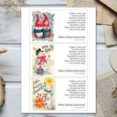 Digitális karácsonyi képeslapok - Oszlánszki ART Digimon, Playing Cards, Art, Art Background, Playing Card Games, Kunst, Performing Arts, Game Cards, Playing Card
