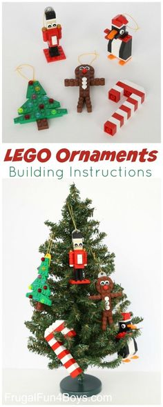 FREE Lego Ornaments Building Instructions