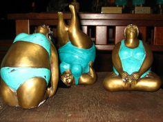 fat acceptance studio bronze statues