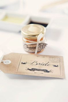 A London Mod Wedding: Maddy & Victor Michael Church, St Michael, Pub Wedding, Wedding Favours, Place Card Holders, London, Smiley, Stamping, Pots