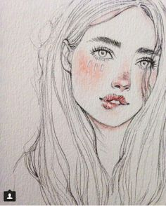 18 Ideas hair drawing illustration pencil for 2019 Pencil Art, Pencil Drawings, Art Drawings, Drawing Faces, Drawing Lips, Face Sketch, Drawing Sketches, Drawing Ideas, Amazing Drawings