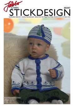 Cute baby cardigan with matching hat.