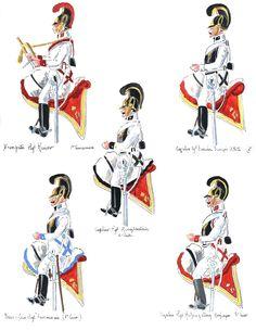 Austria; 1st Cuirassiers, Trumpeter,  2nd Cuirassiers, Cuirassier, 6th Cuirassiers, Sous Officer & 8th Cuirassiers, Cuirassier