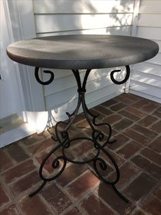 46 Quot Small Brittany Dining Table With Wrought Iron Base