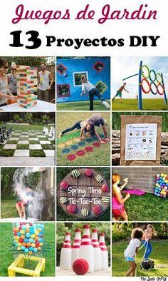 Aunque este fin de semana no esta haciendo muy buen tiempo, ya me he puesto a preparar algunos juegos al aire libre para niños ... y para ad...