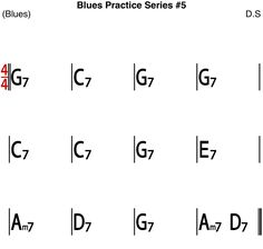 [Blues Practice Series 23] Blues #5 (Blues Rock Ballad Tempo 95) - Sheet Music Kind Of Blue, Backing Tracks, Rhythm And Blues, Blues Rock, Guitar Chords, Excercise, Sheet Music, Ejercicio, Exercise