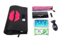 Lips handbag carry case for iPhone 6 iPhone 6 plus big red lips pattern high fashion mini bag