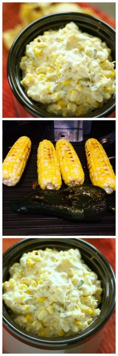 Roast corn and Poblano peppers on the grill and then make this amazing-sounding CrockPot Roasted Corn and Poblano Dip with Bacon from Slow Cooker Gourmet. I bet this will be a huge hit at a summer party!  [found on SlowCookerFromScratch.com]