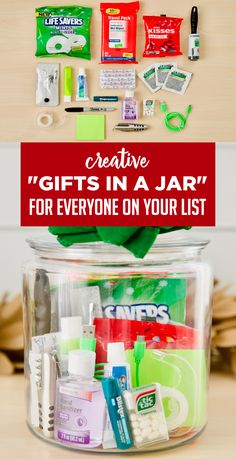"""Gift baskets have been done to death, so give a gift in a jar this year! Check out these 10 creative ideas for heartfelt holiday gifts packed up in a jar. gifts baskets 10 Unique Gift Ideas For An Amazing """"Gift In A Jar"""" Handmade Gifts For Friends, Christmas Gifts For Friends, Homemade Christmas Gifts, Holiday Gifts, Christmas Ideas, Christmas Games, Simple Christmas, Christmas Eve, Christmas Crafts"""