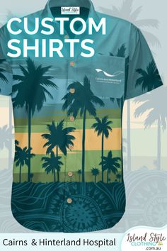 We designed this custom hawaiian shirt for 'Cairns and Hinterland Hospital'. How about your Hospital, Practice, Club, Team or Group? Send in your design or we can design for you. #customshirts #customhawaiianshirts #madetoorder #eventshirts #uniforms #tourshirts #festivalfashion #surfshirts #customtshirts #customt-shirts #custom-shirts
