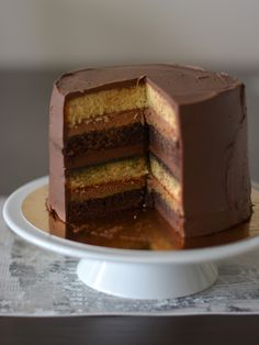 Colors in the Kitchen: Marcipános csokitorta baracklekvárral Cake Designs, Cheesecake, Pudding, Chocolate, Cooking, Sweet, Cakes, Recipes, Foods