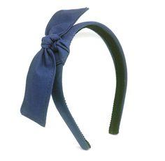 Headband w/ Knot Bow - Navy Blue. Blair Waldorf bow headband.