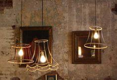 Shadeless lamp shades living-areas