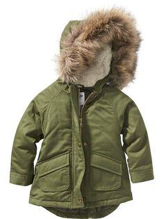 8ce95bab97 Faux-Fur Trim Jacket Trendy Toddler Girl Clothes