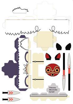 Princess Mononoke San cubeecraft by ~scarykurt on deviantART