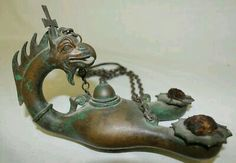 - Lucerna Romana en bronce