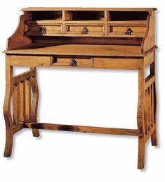 escritorio sobre de piel rustico