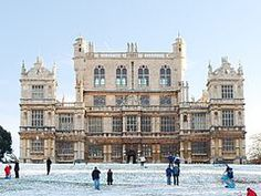 Wollaton Hall is an Elizabethan country house standing on a small but prominent hill in Wollaton Park, Nottingham, England. The house is now Nottingham Natural History Museum, with Nottingham Industrial Museum in the out-buildings. Built between 1580-1588 for Sir Frances Willoughby. It is in the Elizabethan and early Jacobean styles.