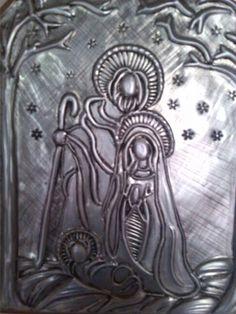 Repujado en aluminio..la Sagrada Familia