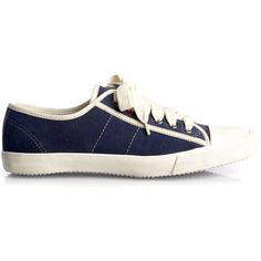 Suede Trainer ❤ liked on Polyvore