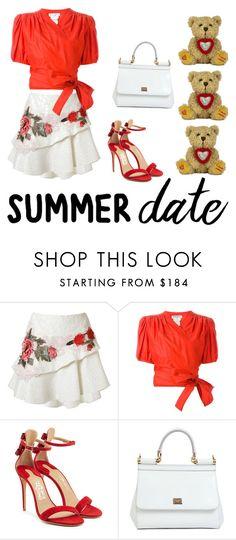 """Summer Date"" by my-secret on Polyvore featuring Martha Medeiros, Yves Saint Laurent, Salvatore Ferragamo, Dolce&Gabbana, summerdate and rooftopbar"
