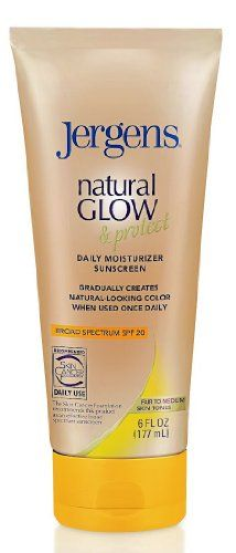 Jergens Daily Moisturizer, Natural Glow & Protect, Fair to Medium, Spf 20, 6 Oz (Pack of 2) Jergens,http://www.amazon.com/dp/B00AUPB3XI/ref=cm_sw_r_pi_dp_AZBktb1Y1M8T7CSP